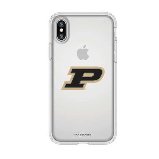 IPH-X-CL-PRE-PUR-D101: FB Purdue iPhone X Presidio Clear